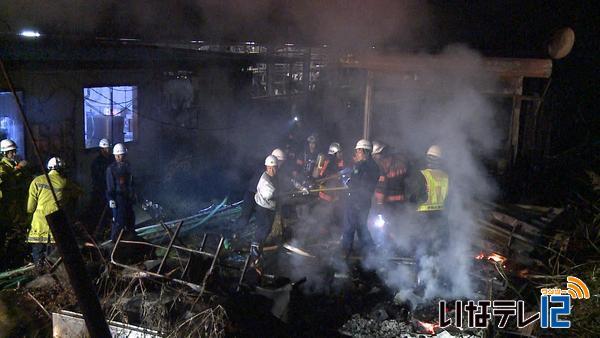 伊那市手良で空き家が全焼|ニュース|伊那谷ねっと